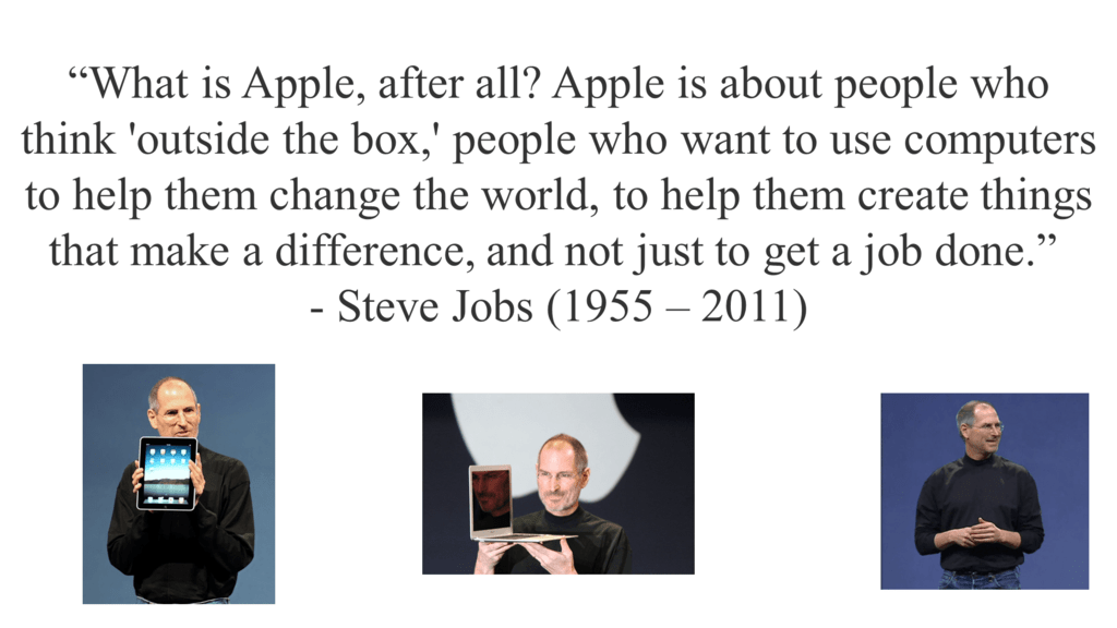 Steve Jobs Powerpoint Quote When Youre A Carpenter Making