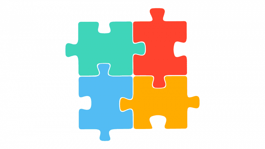 Puzzle Infographic PowerPoint from Slide Cow Toolkit