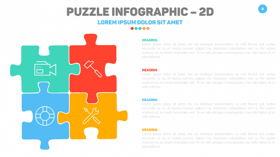Puzzle Infographic Slide in Slide Cow Toolkit PowerPoint Template
