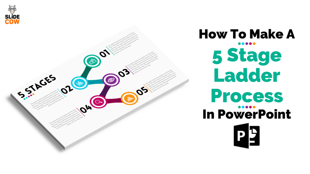 Feature Image - How To Make A 5 Stage Ladder Process in PowerPoint