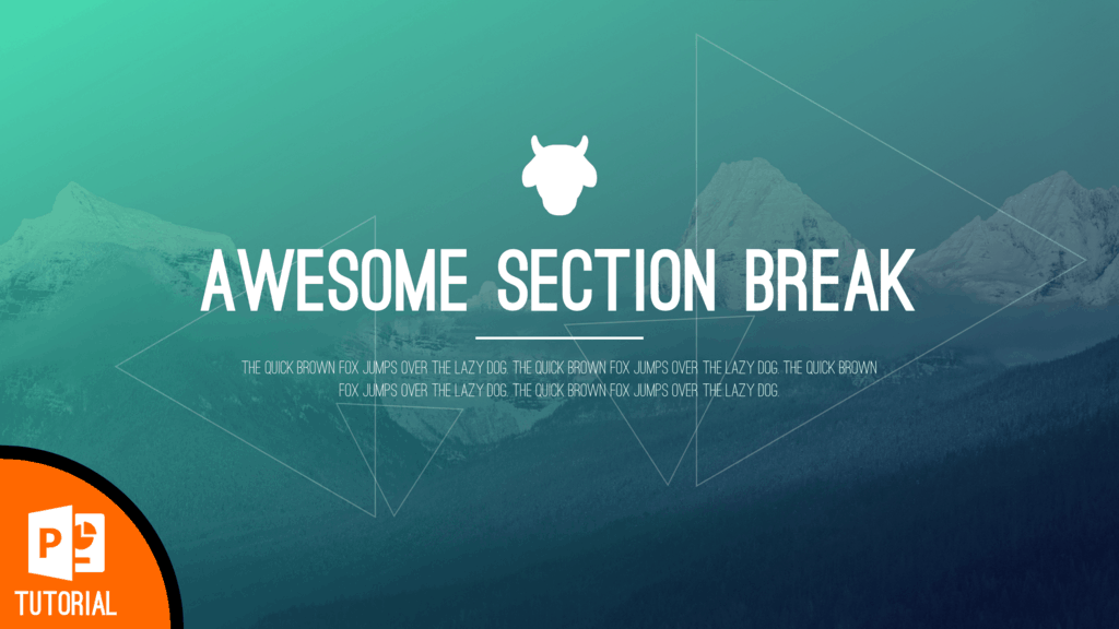 How to Design a Beautiful Section Break Slide in PowerPoint