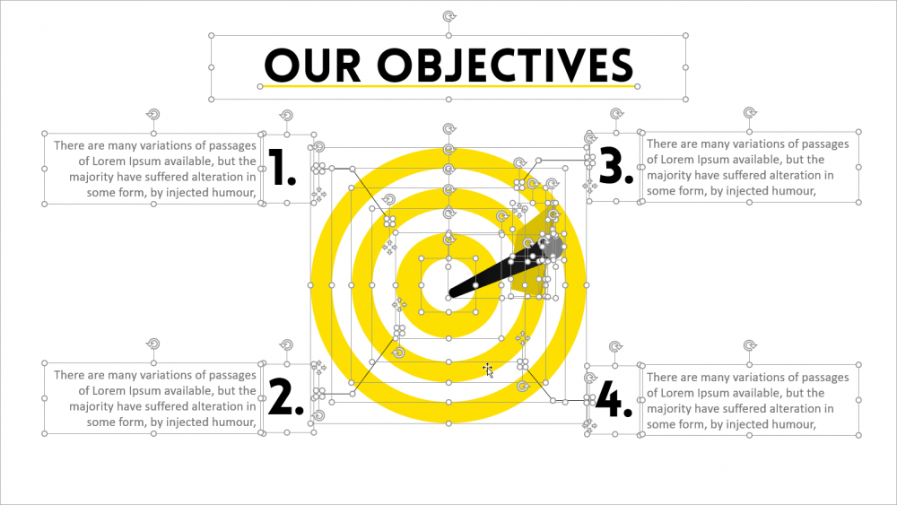 a fully editable objective slide in PowerPoint