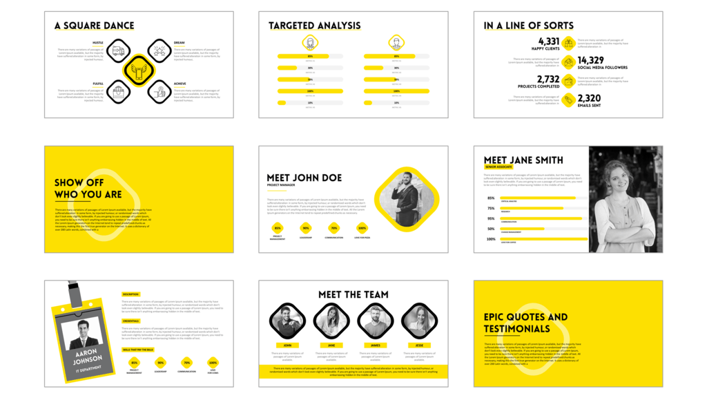 Powerpoint Template | Strive A Beautiful Powerpoint Template That Inspires