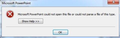 PowerPoint critical error