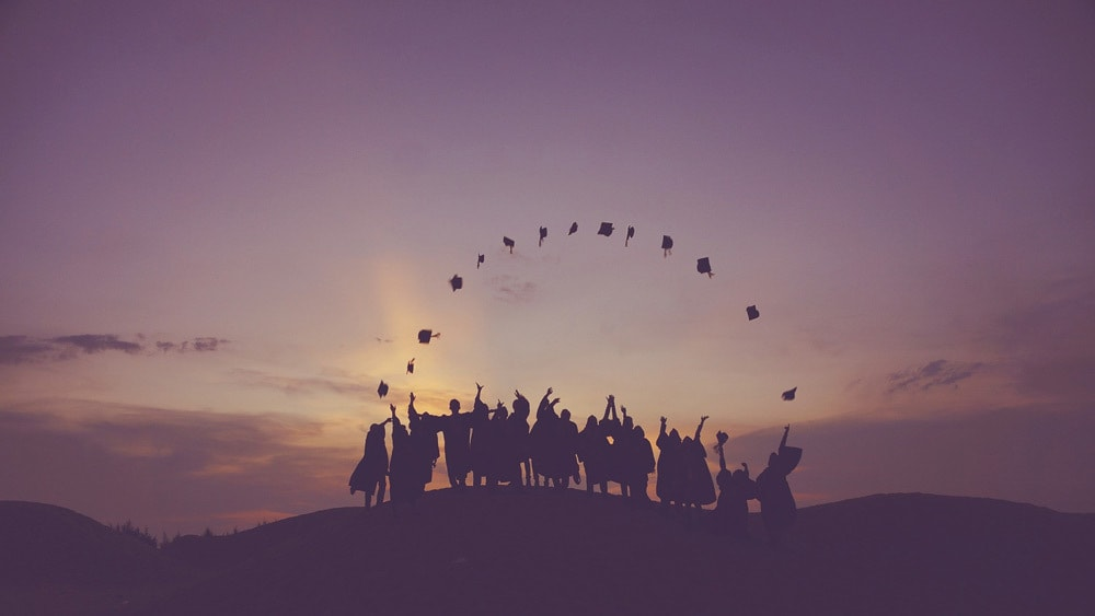 group of students celebrating their graduation ceremony