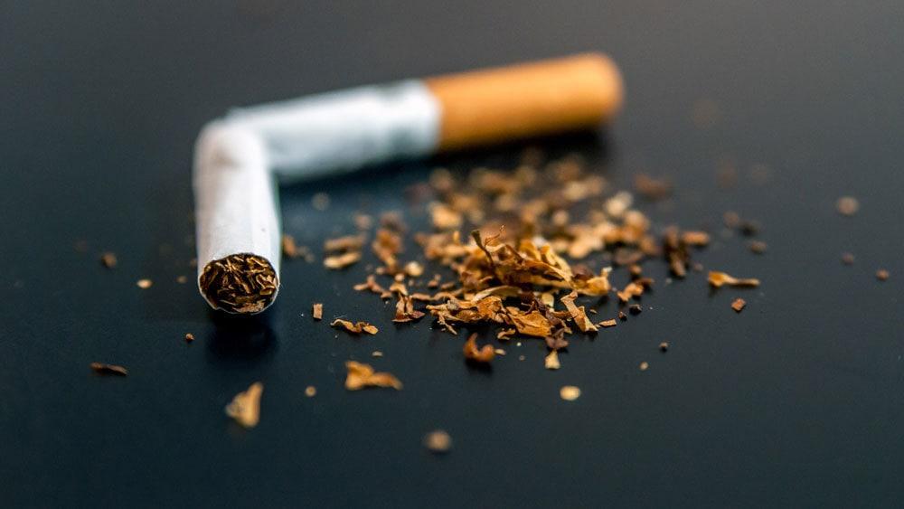 A damaged cigarette