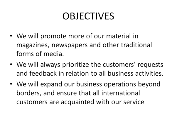 an example of a bad objectives slide in powerpoint